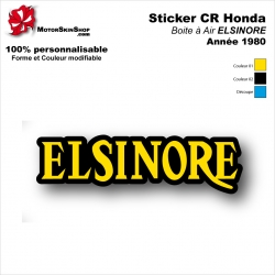Sticker ELSINORE Honda 1980 Plaque latérale