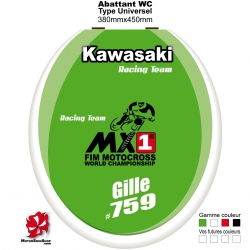 Sticker abattant WC Kawasaki