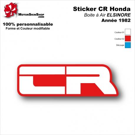 Sticker Honda CR 1982 Plaque Latérale