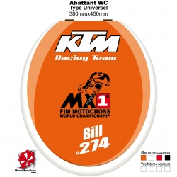 Sticker abattant WC KTM