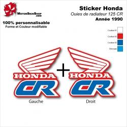 Sticker 125 CR Ouies de Radiateur Honda 1990