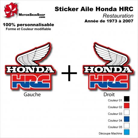 Sticker Honda HRC Ouies de 1973 à 2007 Radiateur Honda