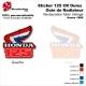 Sticker Honda CR125 de 1986 Ouie Radiateur Honda