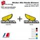 Sticker Aile Honda ELSINORE CR125 ou CR250 de 1974 à 1977 Vintage