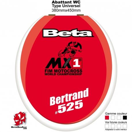 Sticker décoration Abattant WC Beta
