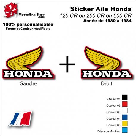Sticker Aile Honda CR125 CR250 CR500 de 1980 à 1984 Vintage