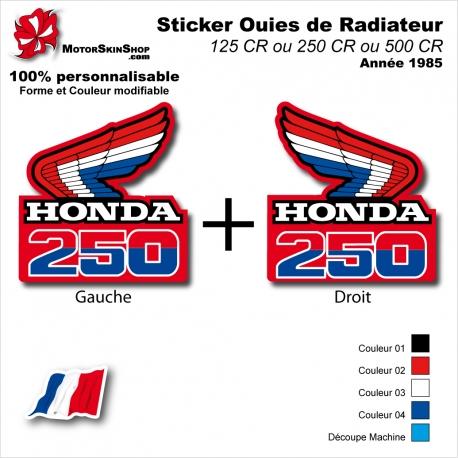 Sticker Ouies de Radiateur CR125 CR250 CR500 1985 Vintage