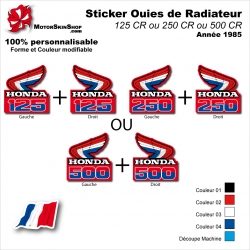Sticker Ouies de Radiateur CR125 CR250 CR500 1985 Vintage