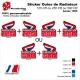 Sticker Ouies de Radiateur CR125 CR250 CR500 1985 Rouge Vintage