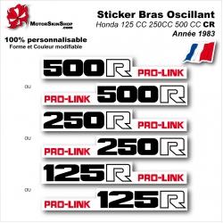 Sticker Bras Oscillant CR125 CR250 CR500 Honda 1983 Vintage