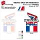 Sticker Ouies de Radiateur Drapeau FRANCE Honda 1987