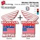 Sticker CR125 CR250 CR500 USA Ouies de Radiateur Honda 1989
