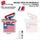 Sticker Ouies de Radiateur Drapeau USA Honda 1987