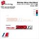 Sticker Bras Oscillant Rouge CR125 CR250 CR500 Honda 1983 Vintage