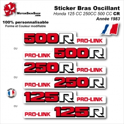 Sticker Bras Oscillant Rouge CR125 CR250 CR500 Honda 1984 Vintage
