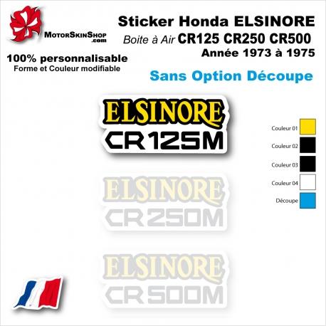 Sticker CR125 CR250 CR500 Honda ELSINORE Plaque latérale 1973 à 1975