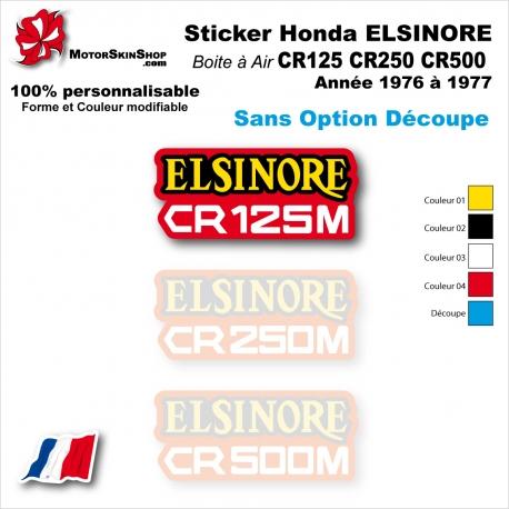 Sticker CR125 CR250 CR500 Honda ELSINORE Plaque latérale 1976 à 1977