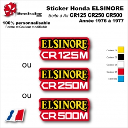 Sticker CR125 CR250 CR500 Honda ELSINORE Plaque latérale 1976 à 1977
