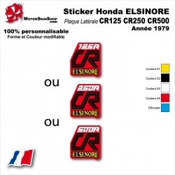 Sticker CR125 CR250 CR500 Honda ELSINORE Plaque latérale 1979