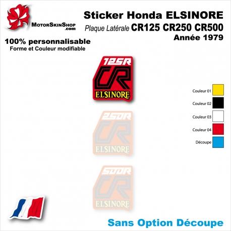 Sticker CR125 CR250 CR500 Honda ELSINORE Plaque latérale 1979