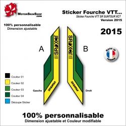 Sticker Fourche VTT SR SUNTOUR XCT 2015