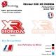 Sticker Réservoir 600 XR Honda 1987