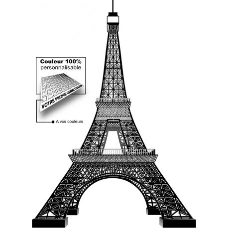 Sticker Tour Eiffel noir Paris 3D