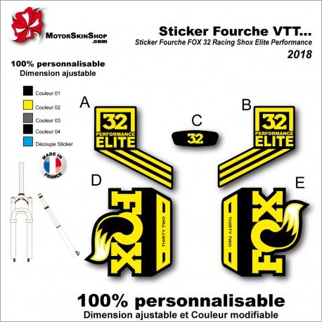 Sticker Fourche VTT FOX 32 Racing Shox Elite Performance 2018