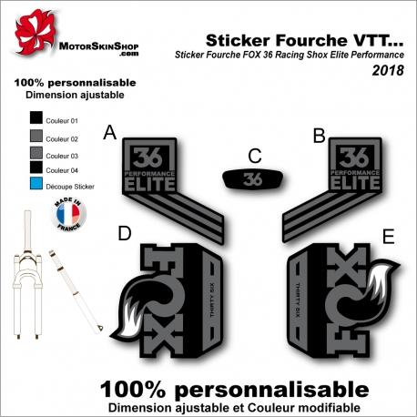 Sticker Fourche VTT FOX 36 Racing Shox Elite Performance 2018