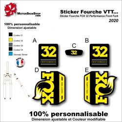 Sticker Fourche VTT FOX 32 Performance Front Fork 2020 Fourche Noir