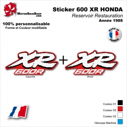 Sticker Réservoir 600 XR Honda 1988
