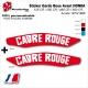 Sticker Garde Boue Avant HONDA 125 CR / 250 CR / 480 CR / 500 CR Année 1973/1986