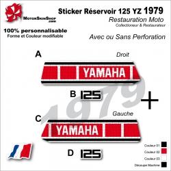 Sticker Réservoir 125 YZ 1979 Vintage
