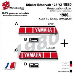 Sticker Réservoir 125 YZ 1980 Vintage