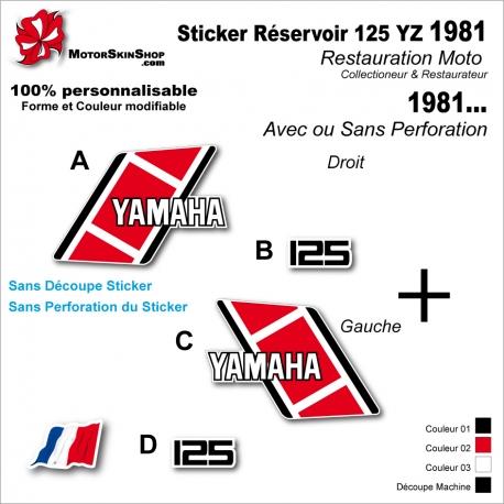 Sticker Réservoir 125 YZ 1981 Vintage