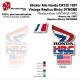 Sticker Aile Honda CR125 1987 Vintage Réplica Micky DYMOND Restauration VINTAGE HRC USA
