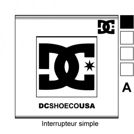 sticker prise DC Shoes interrupteur universel