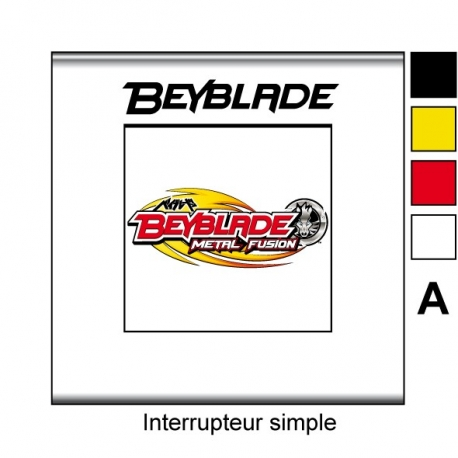 Sticker prise Beyblade interrupteur universel