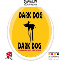 Sticker abattant WC Dark Dog