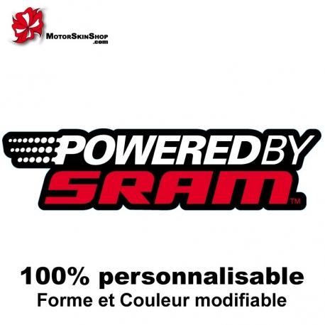 Sticker vélo Powered by SRAM