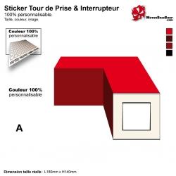 Sticker tour de prise et interrupteur électrique