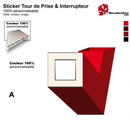 Sticker tour de prise et interrupteur électrique contemporain