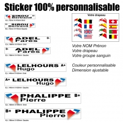 Sticker nominatif Pilote personnalisable
