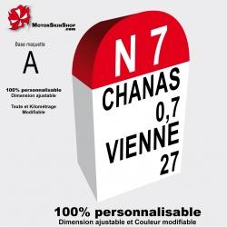 sticker borne RN7 Route nationale 7