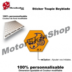 Sticker Beyblade Dark Bull