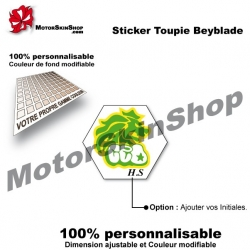 Sticker Beyblade Rock Leone