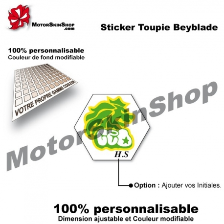 Sticker toupie Beyblade Rock Leone