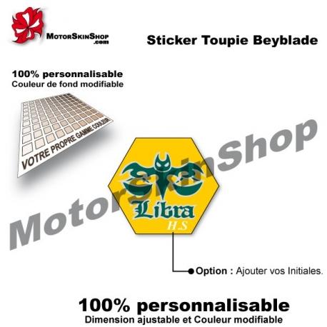 Sticker toupie Beyblade Flame Libra