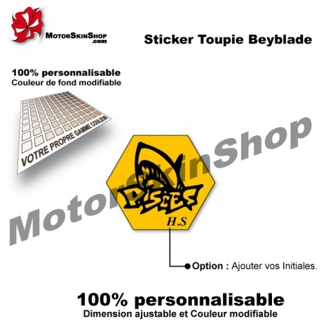 Sticker toupie Beyblade Thermal Pisces