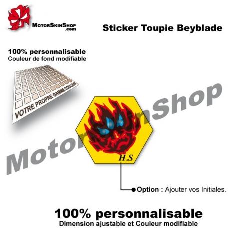 Sticker toupie Beyblade Orion Fantome